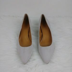 J CREW Suede pointed toe pumps light pink Size 9.